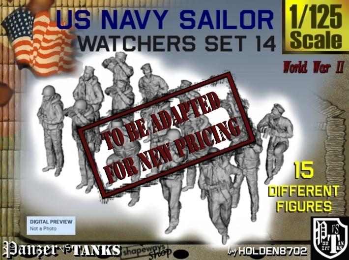 1-125 US Navy Watchers Set14 3d printed