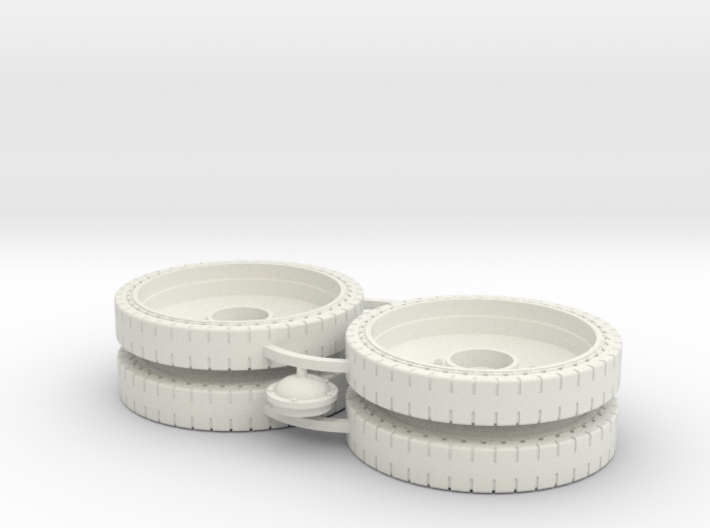 Two 1/16 T34 Rubber Rimmed Wheels 3d printed