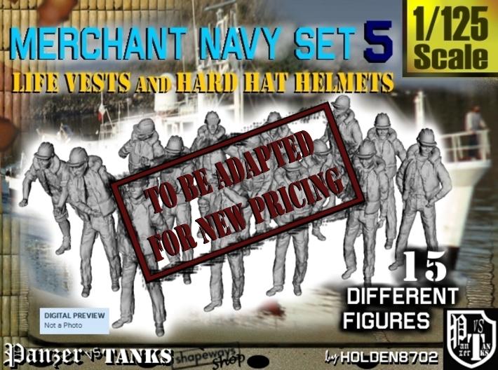1/125 Merchant Navy Set 5 3d printed