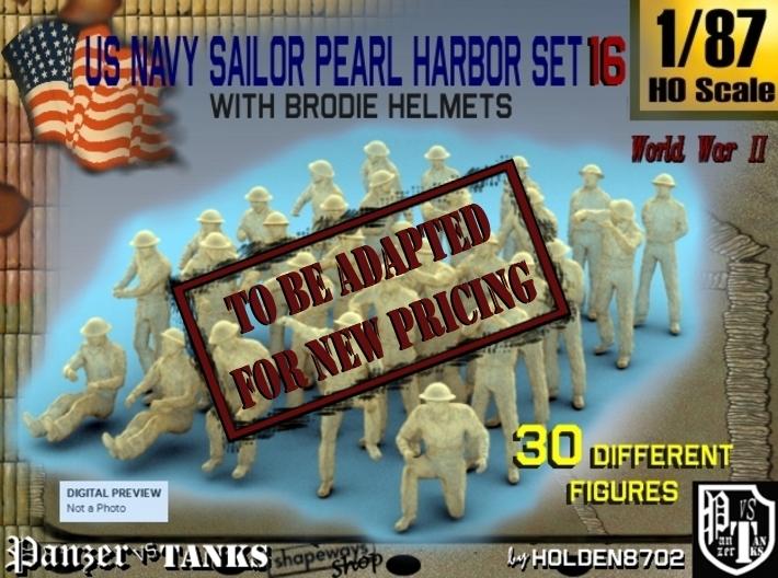 1-87 US Navy Pearl Harbor Set 16 3d printed