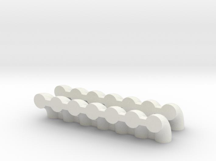 """'N Scale' - (14) 12"""" Elbows 3d printed"""