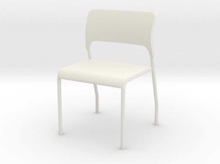 1:24 Stacking Plastic Waiting Chair 3d printed