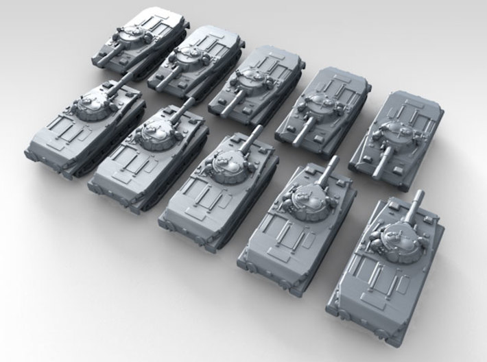 1/600 Russian PT-76 Light Tanks x10 3d printed 3d render showing product detail