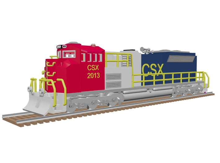 CSX SD70ACE 1 3d printed EMD SD70 ACE in US colors