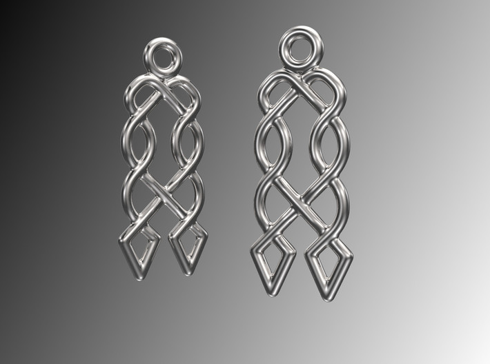 Celtic Weave Earrings - WE027 3d printed