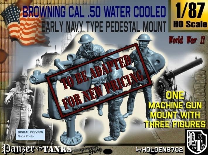 1-87 USN Cal 50 M2 WC & Crew Set 3d printed
