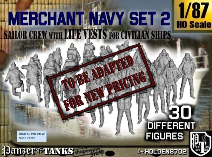 1/87 Merchant Navy Crew Set 2 3d printed