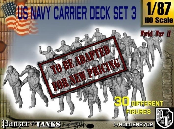 1/87 US Navy Carrier Deck Set 3 3d printed