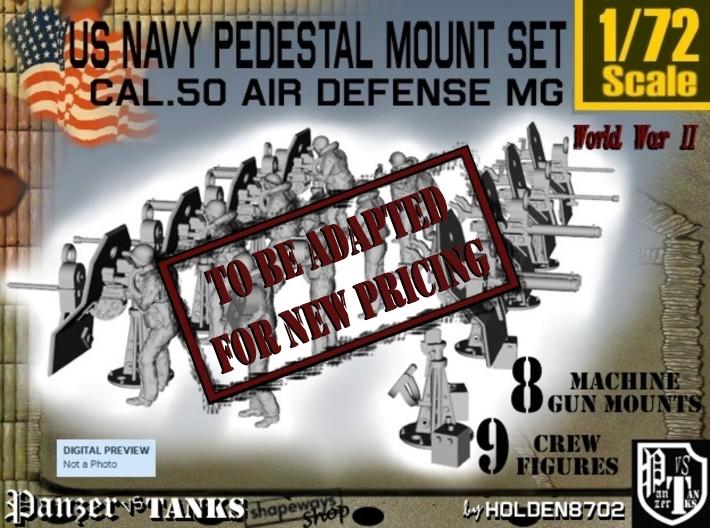 1/72 US Navy AA M Gun Pedestal Mount 3d printed