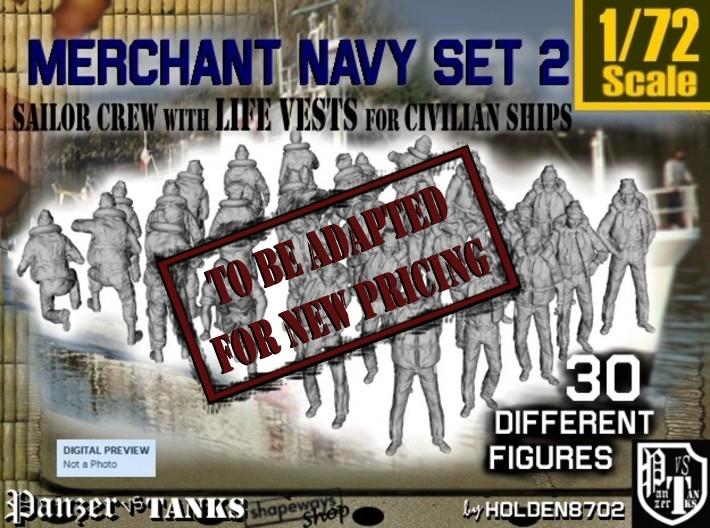 1/72 Merchant Navy Crew Set 2 3d printed