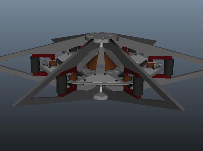Otc Sheet1 3d printed Framework and inner disk