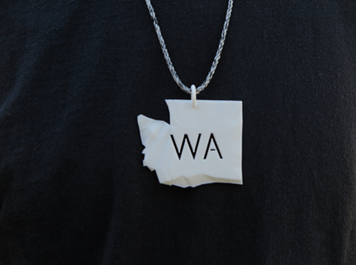 Washington State Pendant 3d printed *twine not included