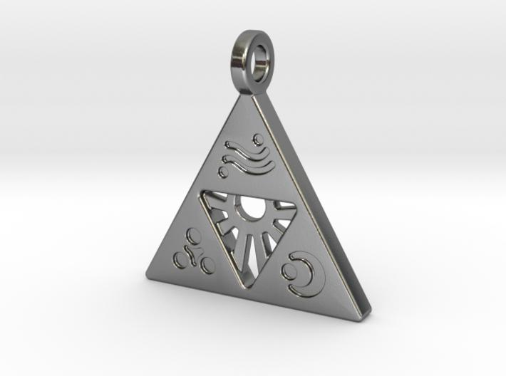 Zelda-Triforce Pendant 3d printed
