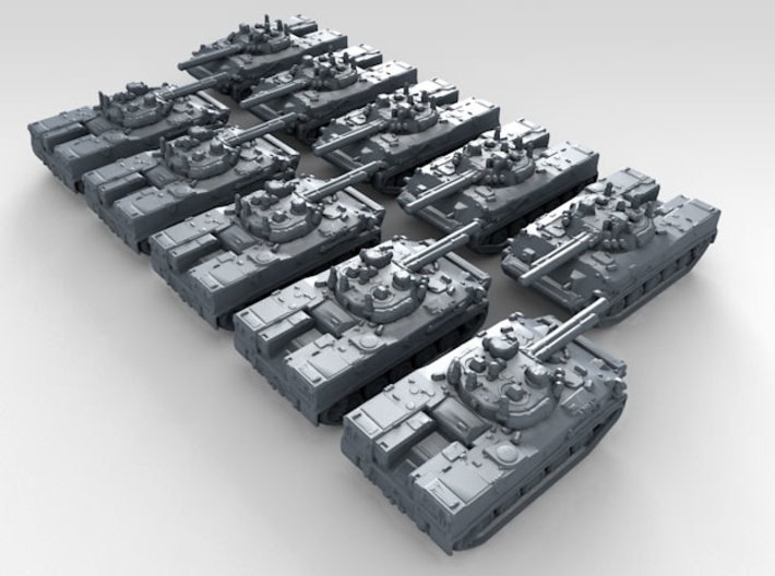 1/700 Russian BMD-4 Armoured Fighting Vehicle x10 3d printed 3d render showing product detail