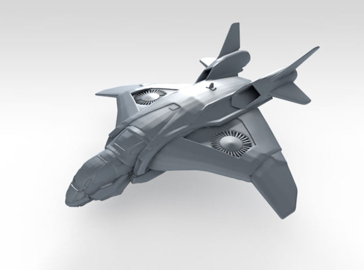 1/700 Scale S.H.I.E.L.D. Quinjet (In-Flight) x10 3d printed 3d render showing product detail