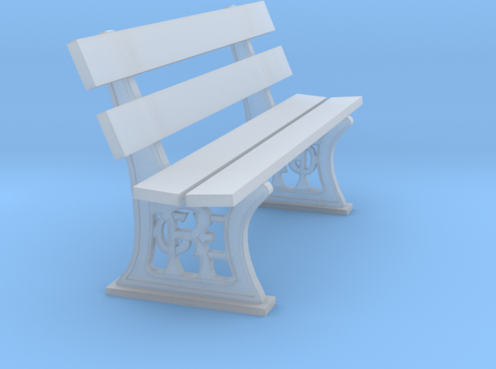 GER Bench 7mm scale 3d printed