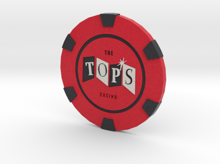 The Tops Poker Chip 3d printed