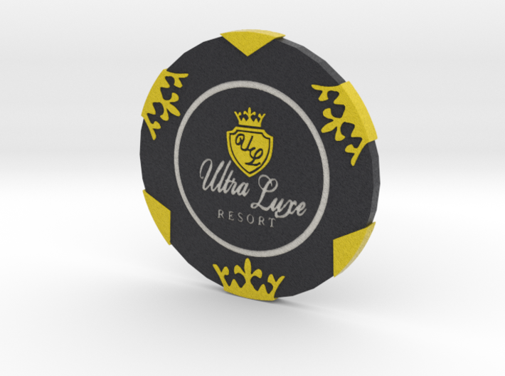 Ultra Luxe Poker Chip 3d printed