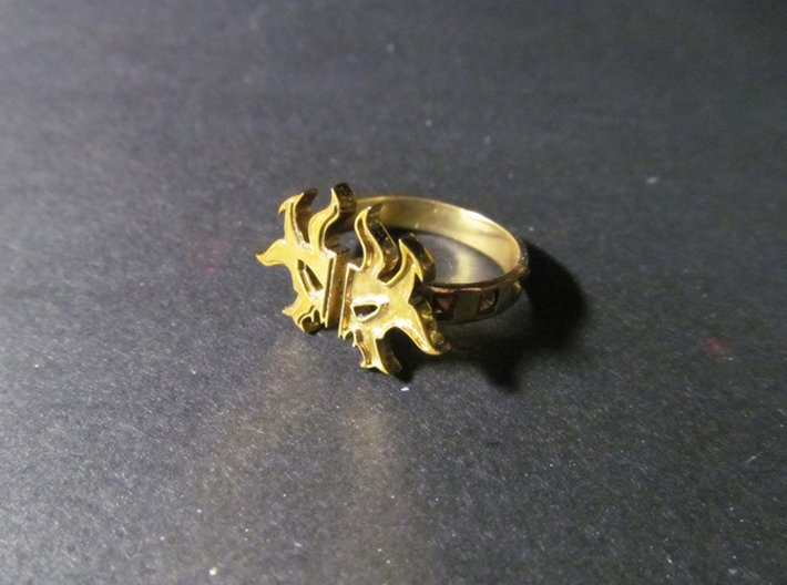 Magic: The Gathering  Rakdos Ring(US Size8) 3d printed Brass