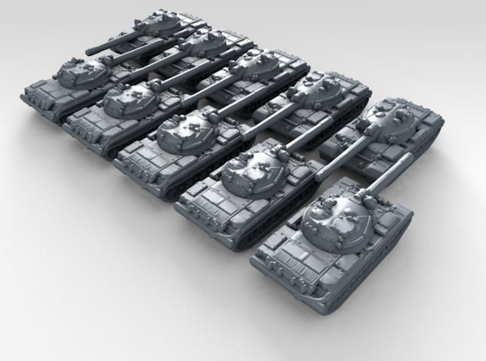 1/600 Russian Object 155 Main Battle Tank x10 3d printed 3d render showing product detail