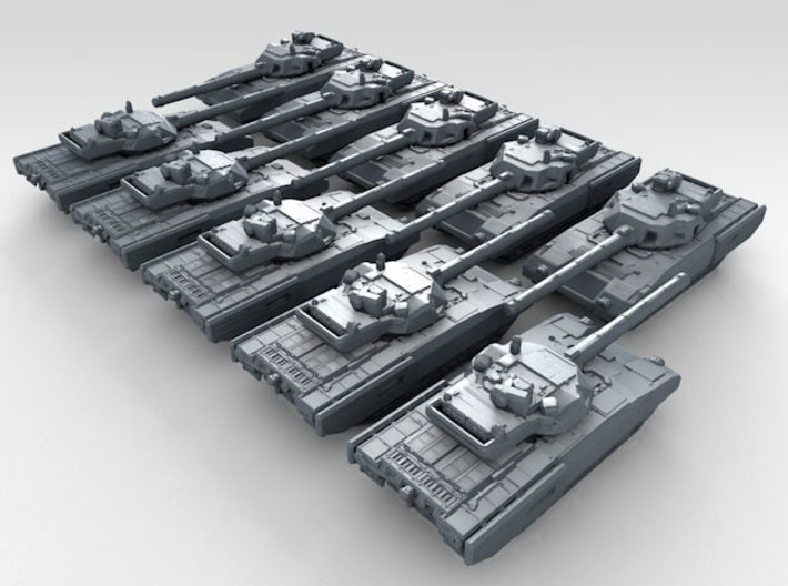 1/700 Russian T-14 Armata Main Battle Tank x10 3d printed 3d render showing product detail