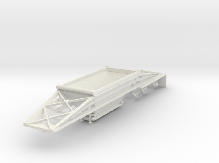 000594 Bottem Dump Trailer HO 1:87 3d printed