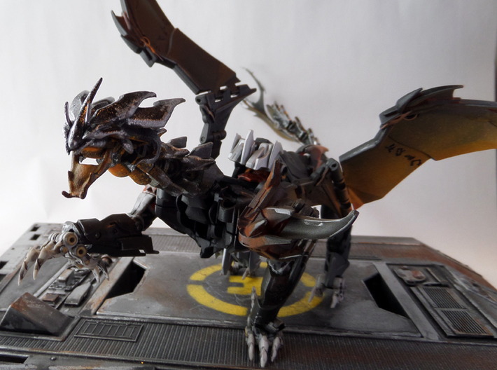 "TFP Voyager Beast King Head+Neck 3d printed Paint by <a href=""http://www.tfw2005.com/boards/radicons-customs/974634-tfp-predaking-incedius-shapeways-upgrades.html"">justdd on tfw2005</a>"