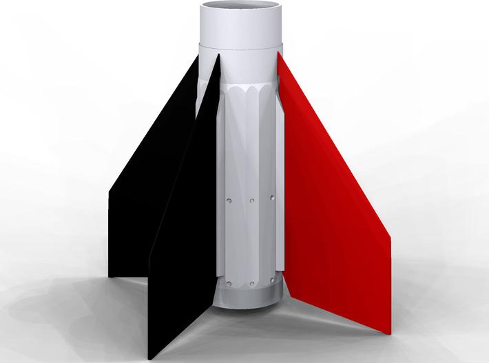 D region Tomahawk Fin Unit BT50 for 18 mm motors 3d printed