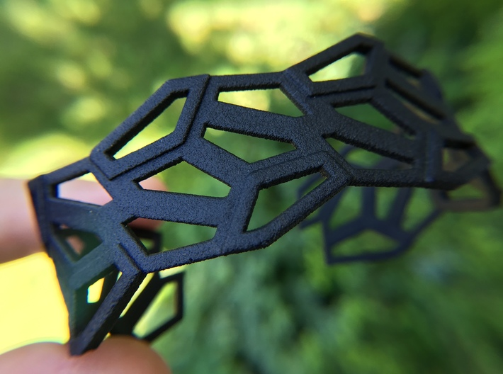 STEIN Cuff Bracelet 3d printed Shown here in a beta test of HP Strong and Flexible