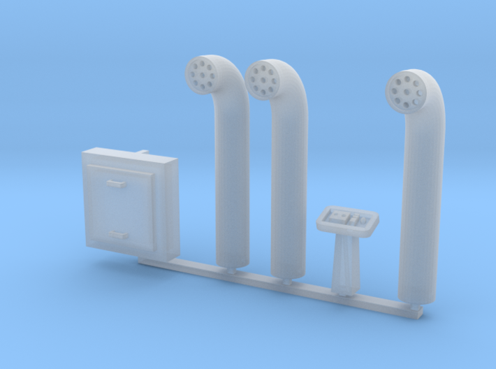 Docking Bay Pipes, 1:72 3d printed