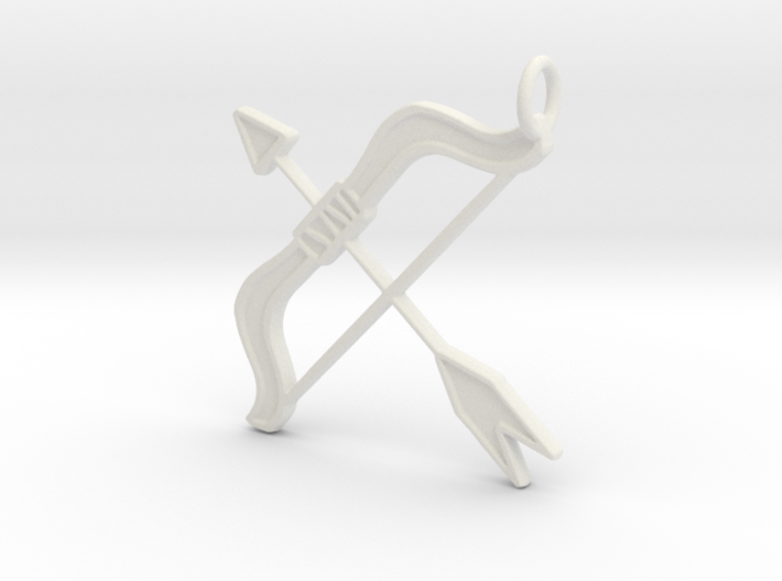 Bow & Arrow Keyring 3d printed