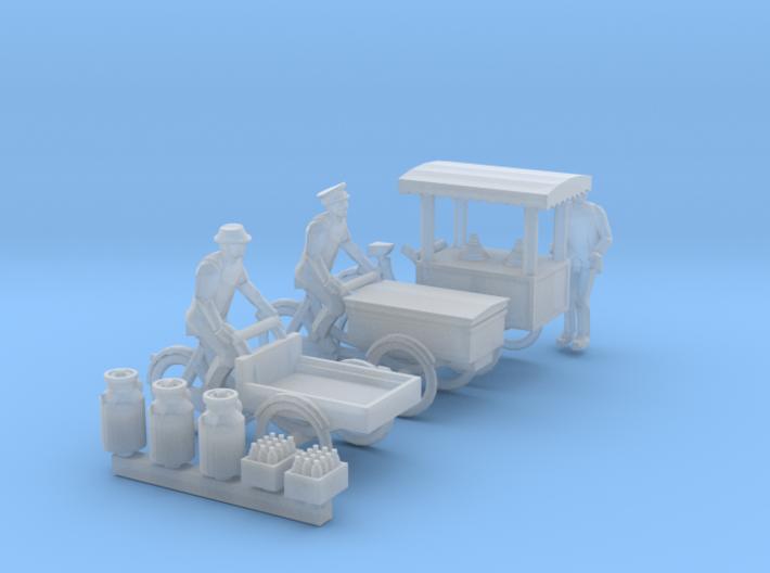 SET 3x Carrier tricycles (N 1:160) 3d printed
