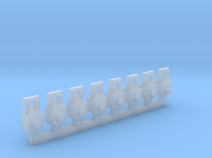 Lanterns 8 Pack 1-87 HO Scale 3d printed