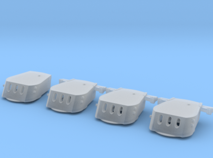 "1/350 USS Cleveland & USS Columbia 6""/47 Turrets 3d printed"