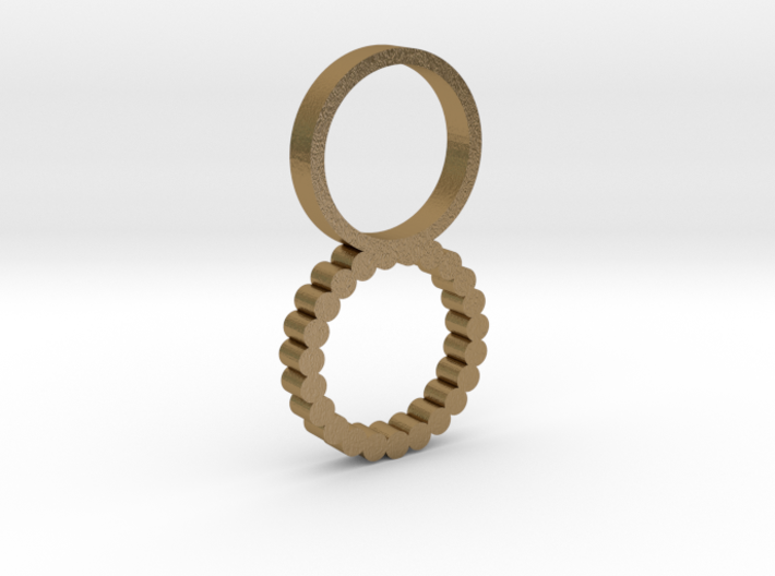 Double Ring Size 6 3d printed