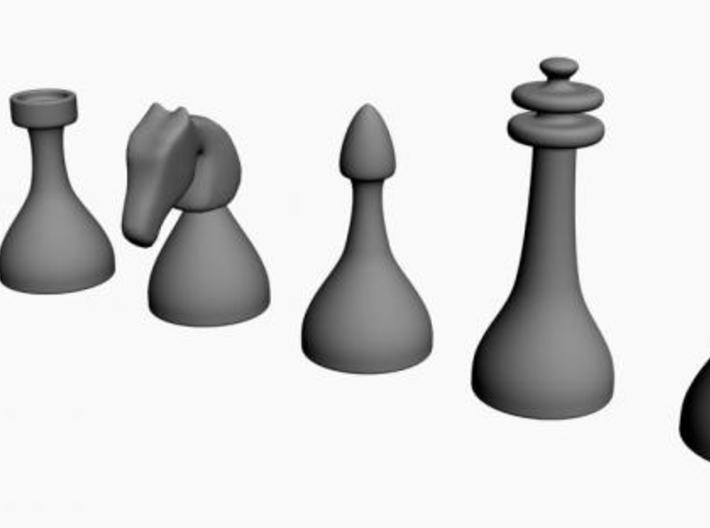 Chess Pieces 3d printed the set
