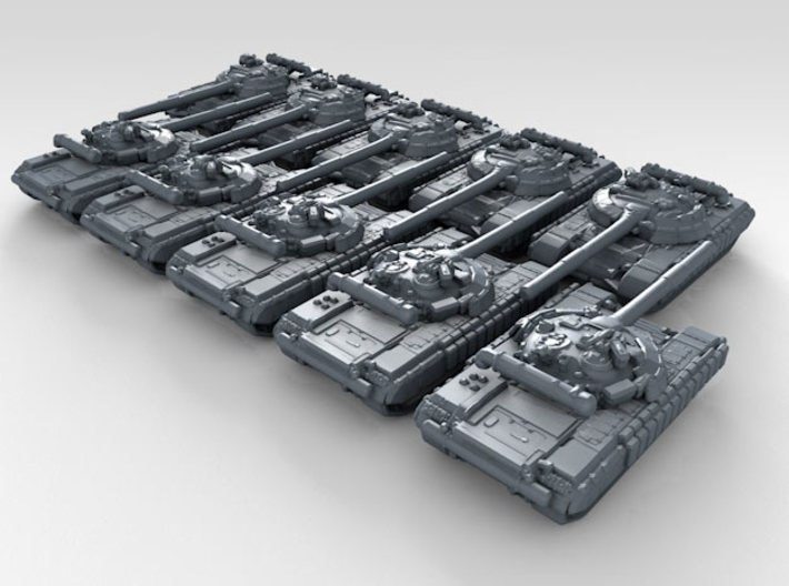 1/600 Russian T-64A Mod.1976 Main Battle Tank x10 3d printed 3d render showing product detail