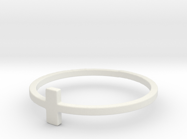 Plus Cross Sign Ring 3d printed