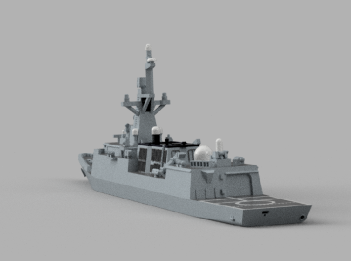 1/2000 ROKS Incheon 3d printed Computer software render.The actual model is not full color.