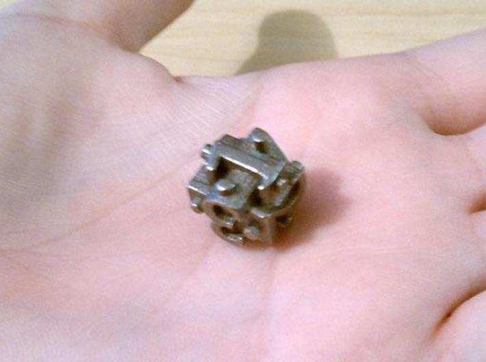 Ligature d6 3d printed In stainless steel.