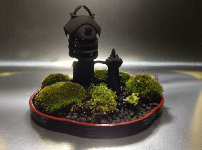 Bonkei Castle 3d printed Bonkei is Japanese tray landscape hobby. Moss, plants, stones and small accessories are used to create miniature landscapes. This castle is from my Coldsound Castle painting.