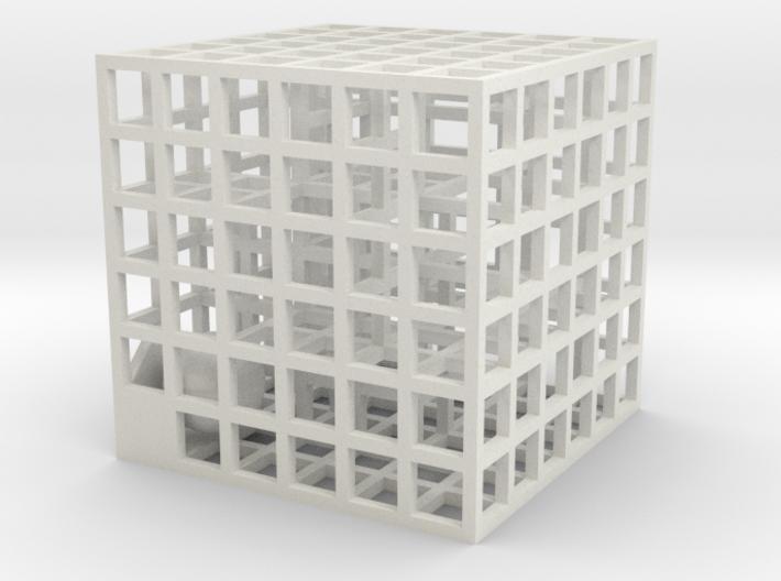 Maze 02, 3x3x3, 'Fidget'  3d printed
