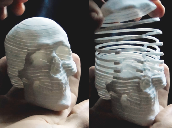 Mortal Coil (top to bottom stretching) 3d printed