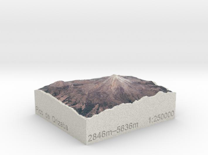 Pico de Orizaba, México, 1:250000 Explorer 3d printed