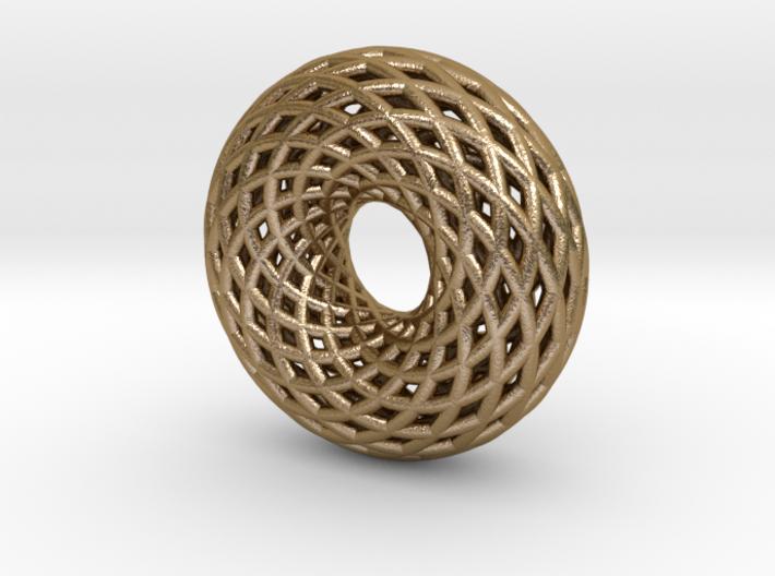 Sacred Geometric Vortex Pendant (12 turn) 1 in 3d printed