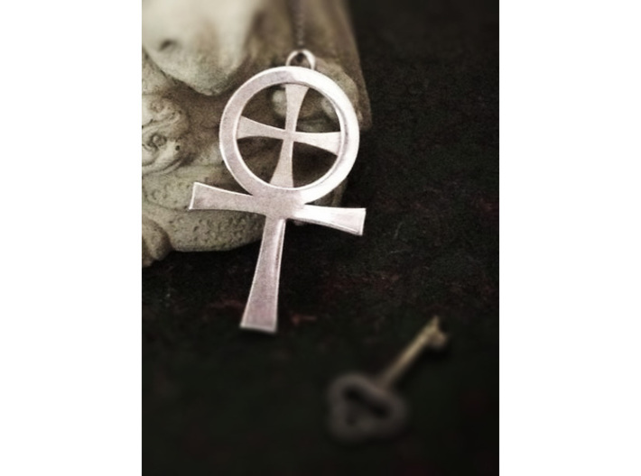 Large Gnostic Cross Pendant : Pectoral Cross 3d printed Half size version, but otherwise identical