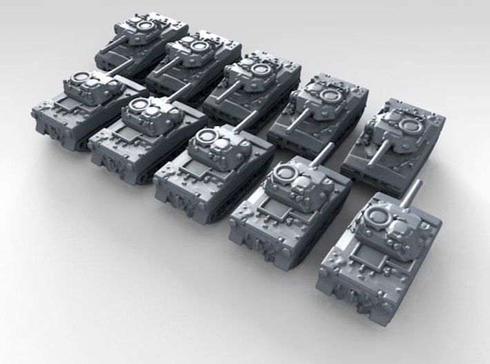 1/700 US XM800T LAW Light Tank x10 3d printed 3d render showing product detail