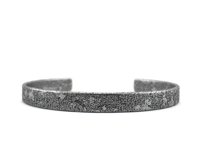Corrosion - Size 7.50 Sterling Silver Bangle 3d printed Aged silver option. Available here: https://shop.pj3dartist.com/products/corrosion-bracelet