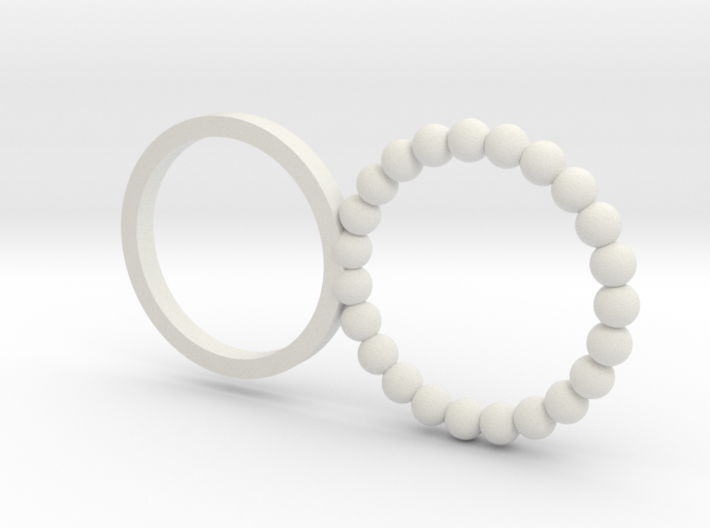 Double Ring - Planet -Size 6 3d printed