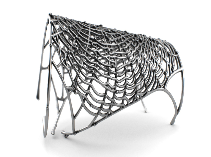 Spider's web - Detailed Bracelet 3d printed Aged silver, available in my web: https://shop.pj3dartist.com/collections/jewelry/products/spiders-web-detailed-bracelet